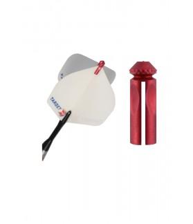 Protector de Plumas Target Aluminio Rojo
