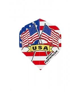 Plumas Pentathlon Standard Bandera USA