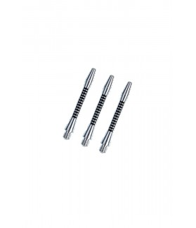 Cañas Aluminio Regrooved Cortas Plata/Negro