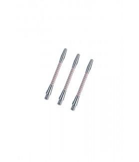 Cañas Aluminio Regrooved Cortas Plata/Rosa
