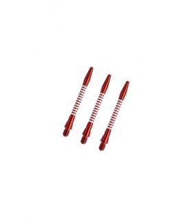 Cañas Aluminio Regrooved Cortas Rojo/Blanco