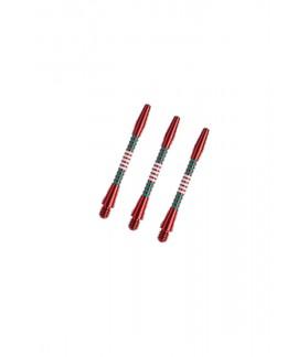 Cañas Aluminio Regrooved Cortas Rojo/Verde/Blanco