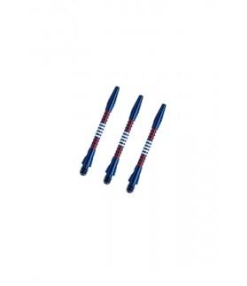 Cañas Aluminio Regrooved Cortas Azul/Rojo/Blanco