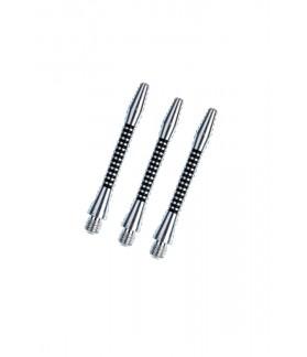 Cañas Aluminio Regrooved Medianas Plata/Negro