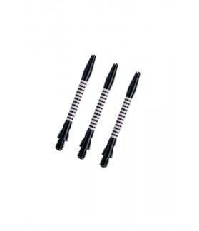 Cañas Aluminio Regrooved Medianas Negro/Rosa