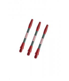 Cañas Aluminio Regrooved Medianas Rojo/Verde/Blanco