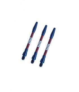 Cañas Aluminio Regrooved Medianas Azul/Rojo/Blanco