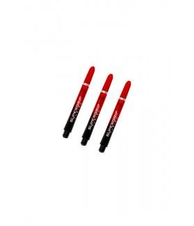 Cañas Harrows Supergrip Fusion Cortas Negro/Rojo