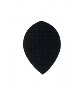 Plumas de Tela Oval Negro