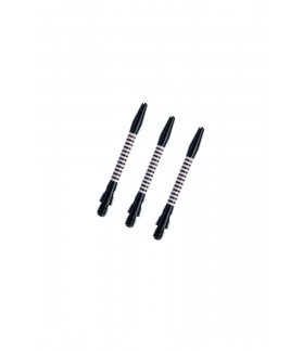 Cañas Aluminio Regrooved Cortas Negro/Plata