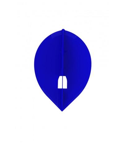 Plumas Champagne Oval Azul