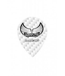 Harrows Graflite Oval Flights White