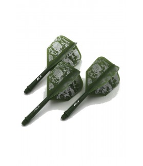 Cuesoul AK5 Shape Skeleton Green Flights