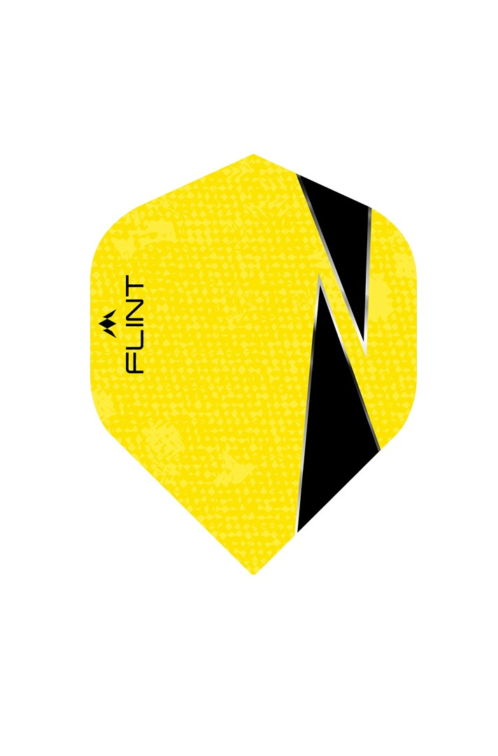 Flint No2 Yellow Gelb Fleyer Fley 1 Stück = 9 Flights Darts NEU Mission Flight