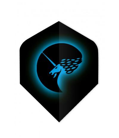 Unicorn Core 75 Standard Flights Logo Blue