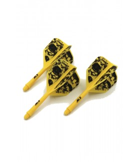 Cuesoul AK5 Shape Skeleton Yellow Flights S