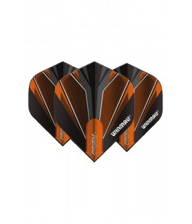 Winmau Prism Alpha Standard Flights Black/Orange