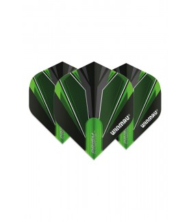 Winmau Prism Alpha Standard Flights Black/Green