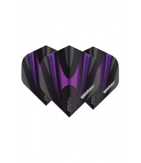 Winmau Prism Alpha Standard Flights Black/Purple