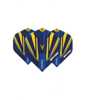 Winmau Prism Alpha Standard Flights Blue/Yellow