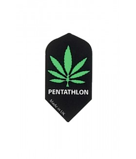 Plumas Pentathlon Slim Cannabis Negro