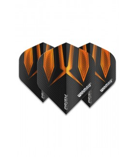 Winmau Prism Alpha Standard Flights Orange/Black