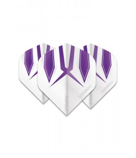 Winmau Prism Alpha Standard Flights White/Purple