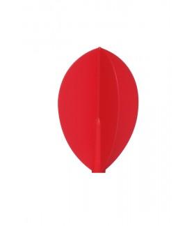 Plumas Fit Flight Oval Rojo 3 uds